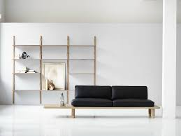 Minimal Furniture Design by Wall Mounted Sectional Oak Shelving Unit Royal System Oak