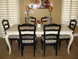 black dining table chairs painting dining room chairs black jand home developer
