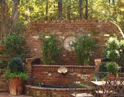 Backyard Feature Wall Ideas Brick Water Feature And Raised Planters Hay Hill Services