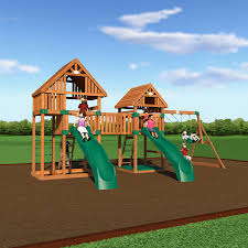 amazon com backyard discovery vista all cedar wood playset swing
