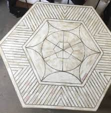 Brass Coffee Table by Bone And Brass Coffee Table Geometric Design Haskell Antiques
