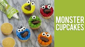 Monster Halloween Cupcakes Quick U0026 Easy Monster Cupcakes Youtube