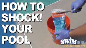 how to shock a pool youtube