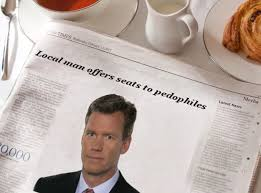 Newspaper Meme Generator - local man offers seats to pedophiles morning news know your meme