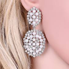 earrings for prom brand design rhinestones earrings big dangle earrings