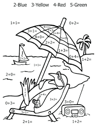 math coloring worksheet addition pages printable free worksheets