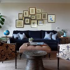 navy velvet tufted sofa design ideas