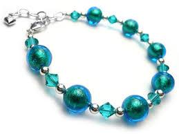 bracelet murano glass images Murano glass bead bracelet kingfisher turquoise jpg