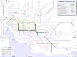 Link Light Rail Map Melbourne Train Map