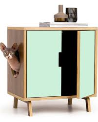 modern litter box cabinet memorial day shopping special mid century modern cat litter box
