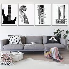 Livingroom Wall Art Online Get Cheap Guitar Wall Art Aliexpress Com Alibaba Group