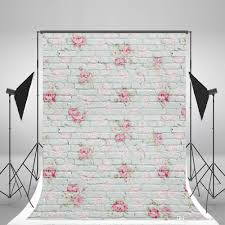 Pink Brick Wall 5x7ft150x210cm White Brick Wall Photography Backdrops Wallpaper
