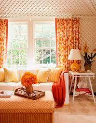 Orange Curtains For Living Room Orange Room Colors Pantone Tangerine Tango Modern Interior Color