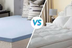 memory foam mattress toppers vs pillow top mattress pads which is