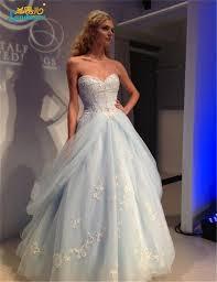 cheap light blue wedding dresses 2017 romantic sweetheart princess