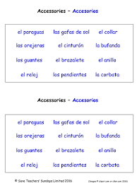 all worksheets clothes in spanish worksheets printable