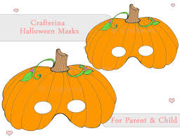 pumpkin mask pumpkin pdf mask printable diy craft kit party