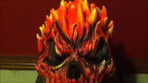 skeleton ghost mask flaming skull mask ghost rider mask youtube