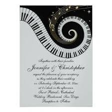 Custom Invites Piano Keys And Golden Musical Notes Wedding Custom Invites