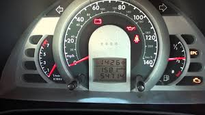 vw fox dash warning lights at engine start youtube