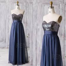 blue sequin bridesmaid dress 2016 navy blue bridesmaid dress sweetheart sequin wedding