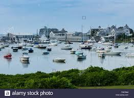 Cape Cod Massachusetts Cape Cod Harwich Wychmere Harbor Stock Photo