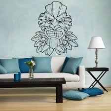 online get cheap hawaii furniture aliexpress com alibaba group pattern tiki hawaii wall vinyl decal stickers sofa background decor mask totem removable wall stickers home decoration zb167