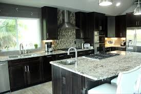 Espresso Cabinet Kitchen Lennar Espresso Kitchen Cabinets White Granite Google Search