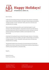 white and red simple corporate christmas letterhead templates by