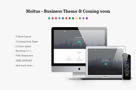 Showoff Home Design 1 0 Free Download Moltus Onepage U0026 Coming Pages Html Css Themes Creative Market