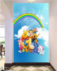 online get cheap lovely cartoon wallpaper aliexpress com 3d custom photo mural 3d wallpaper rainbow lovely cartoon anomals decorion painting 3d wall murals wallpaper