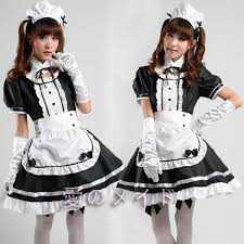 Size Gothic Halloween Costumes French Maid Costume Sweet Gothic Dress Anime Cosplay
