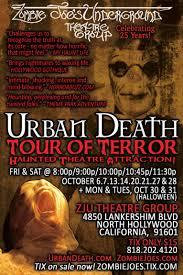zombie joes underground theatre group at zju theater presents