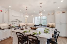 this bright white kitchen features a mont blanc honed quartzite