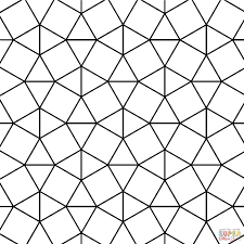 tessellation with triangle and square tiling coloring page for