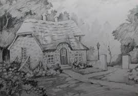 Landscape With Houses by How To Draw A House Landscape With Pencil Step By Step Youtube