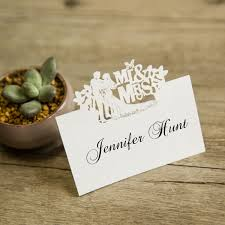 cheap cards cheap mr and mrs laser cut place cards ewpc006 as low as 0 32