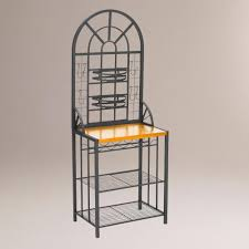 Cheap Bakers Rack Furniture Ironworks Corner Bakers Rack By World Market