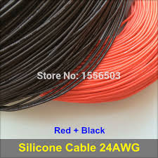 3m red 3m black silicone rubber wire 24awg 3239 insulated cable