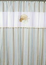 White Linen Shower Curtain Amazon Com Avanti Linens By The Sea Shower Curtain White Home