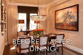 vibrant transitional dining room before and after san diego