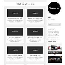 showcaser free minimal gallery wordpress theme