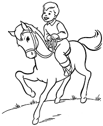 horse riding coloring pages colouring pages horse