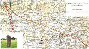 Roman Map Roman Roads In Lancashire