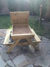 Folding Wooden Picnic Table Plans by How To Build A Kids Picnic Table And Sandbox Combo Diy Projects