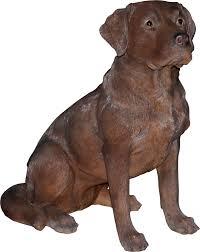 real chocolate labrador resin garden ornament 94 99