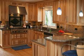 kitchen desaign hickory wood custom kitchen cabinets modern new