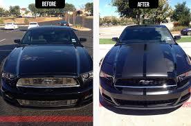 Blue Mustang Black Stripes American Muscle Graphics Mustang Matte Black Lemans Stripes 12