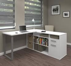 Industrial L Shaped Desk Industrial White L Shaped Desk With Integrated File Open Storage