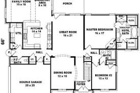 big house plans 34 house plans large rooms house plan w3413 v3 detail from